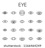 eye related vector icon set.... | Shutterstock .eps vector #1166464249