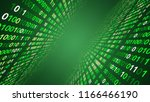 01 or binary data on the... | Shutterstock . vector #1166466190