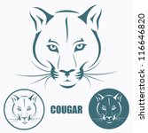 Cougar head - vector illustration