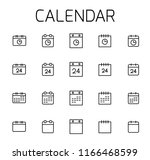 calendar related vector icon... | Shutterstock .eps vector #1166468599