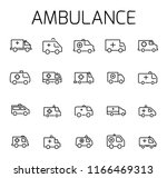 ambulance related vector icon... | Shutterstock .eps vector #1166469313