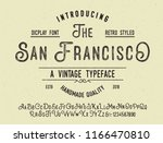 original handmade alphabet.... | Shutterstock .eps vector #1166470810
