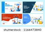 set of web page design... | Shutterstock .eps vector #1166473840