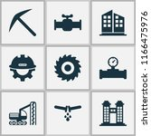 industrial icons set with... | Shutterstock .eps vector #1166475976