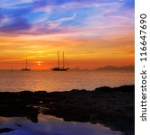 Colorful Sunset Of Ibiza View...
