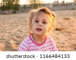 ortrait of cute disheveled baby ...   Shutterstock . vector #1166484133
