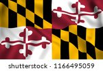 flag maryland us state | Shutterstock . vector #1166495059