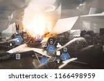 coding software developer work... | Shutterstock . vector #1166498959
