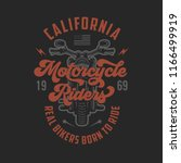 vintage motorcycle t shirt... | Shutterstock .eps vector #1166499919