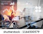 investor analyzing stock market ... | Shutterstock . vector #1166500579