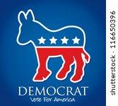 """democrat vote for america""... | Shutterstock .eps vector #116650396"