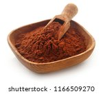 cacao powder in a bowl and... | Shutterstock . vector #1166509270