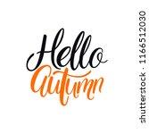 hello  autumn. autumn round... | Shutterstock .eps vector #1166512030