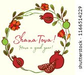 rosh hashanah card   jewish new ... | Shutterstock .eps vector #1166514229