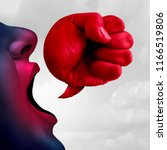 social bullying and aggressive... | Shutterstock . vector #1166519806