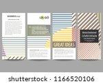flyers set  modern banners.... | Shutterstock .eps vector #1166520106