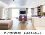 modern kitchen design interior | Shutterstock . vector #1166522176