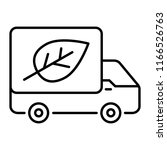 eco truck thin line icon. lorry ... | Shutterstock .eps vector #1166526763