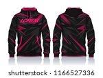 hoodie shirts template.jacket... | Shutterstock .eps vector #1166527336