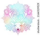 beautiful hand drawn tribal... | Shutterstock .eps vector #1166529529
