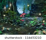 Stone Stairs In A Magic Forest