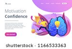 brain with bulb and user jumps... | Shutterstock .eps vector #1166533363