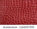texture of red maroon genuine... | Shutterstock . vector #1166537290