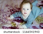 happy child  baby at home. boy | Shutterstock . vector #1166541943