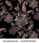 paisley floral ornamental pattern
