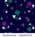 trendy seamless floral pattern  ...   Shutterstock .eps vector #1166551579