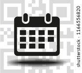 vector icon calendar   Shutterstock .eps vector #1166556820