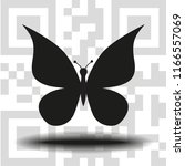 vector icon butterfly   Shutterstock .eps vector #1166557069