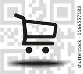 vector icon shopping cart   Shutterstock .eps vector #1166557183