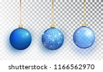 blue christmas tree toy set... | Shutterstock .eps vector #1166562970