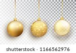 gold christmas tree toy set... | Shutterstock .eps vector #1166562976