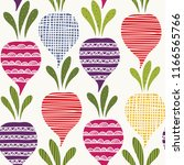 seamless vector pattern with... | Shutterstock .eps vector #1166565766