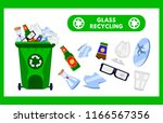 reduce  reuse  recycle waste.... | Shutterstock .eps vector #1166567356