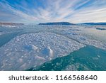 Sea Ice and a Glacial Landscape near the Eqip Sermia Glacier in Western Greenland