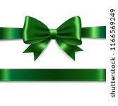 green ribbon bow  | Shutterstock . vector #1166569249