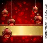 background with red christmas... | Shutterstock .eps vector #116657260