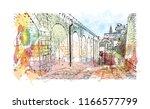 building view with landmark of... | Shutterstock .eps vector #1166577799