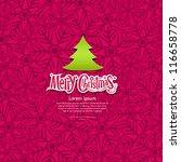 merry christmas snowflake... | Shutterstock .eps vector #116658778