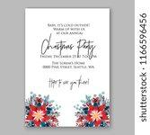 poinsettia christmas party...   Shutterstock .eps vector #1166596456