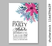 pink poinsettia christmas party ...   Shutterstock .eps vector #1166596639