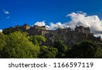 edinburgh castle in blue sky... | Shutterstock . vector #1166597119