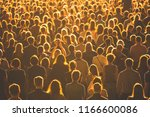 crowds of anonymous people... | Shutterstock . vector #1166600086
