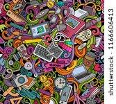 cartoon cute doodles hand drawn ... | Shutterstock .eps vector #1166606413