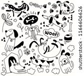 vector illustration of doodle... | Shutterstock .eps vector #1166606626