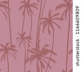 palm trees vector seamless... | Shutterstock .eps vector #1166609809