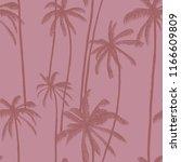 palm trees vector seamless... | Shutterstock .eps vector #1166609809